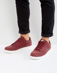 Красные низкие кроссовки Nike Dunk 904234-602 - Красный