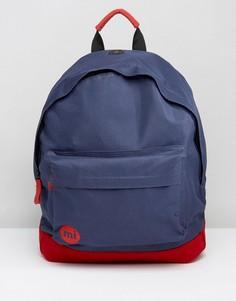 Классический рюкзак с контрастной красной вставкой Mi Pac - Темно-синий
