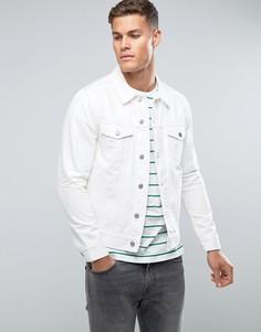 Белая джинсовая куртка Weekday Single - Белый