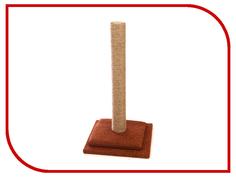 Когтеточка Царапка Столбик на подставке с полочкой 29х29см