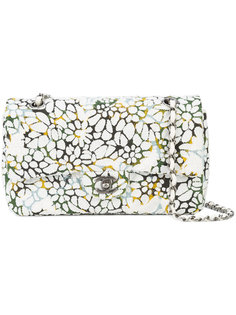 medium floral tweed double flap bag Chanel Vintage