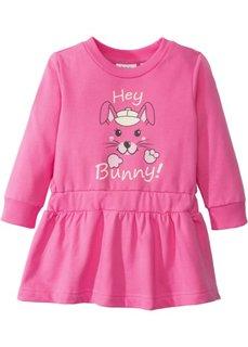 Трикотажное платье (ярко-розовый фламинго с рисунком) Bonprix