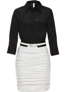 Платье в деловом стиле (черный/белый) Bonprix