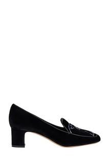 Бархатные туфли Valentino