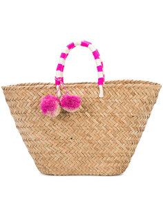 пляжная плетеная сумка с помпоном Kayu