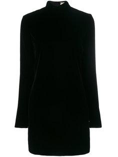 платье шифт с открытой спиной  Saint Laurent