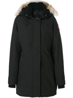 coyote fur trim hooded coat Canada Goose