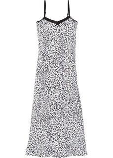 Ночная рубашка на узких бретелях (черный/белый) Bonprix