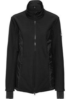 Куртка-софтшелл с жилеткой 3 в 1 (черный) Bonprix