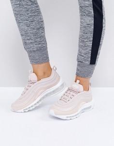 Розовые кроссовки-премиум Nike Air Max 97 - Кремовый