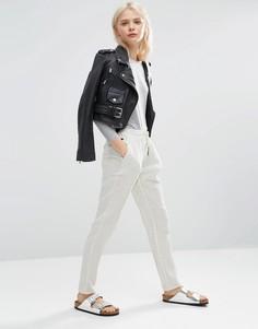 Фактурные брюки-галифе на шнурке ASOS - Белый