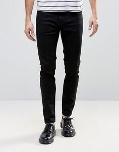 Черные супероблегающие джинсы с заниженной талией Rollas Stinger - Черный