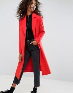 Удлиненное пальто бойфренда ASOS - Красный