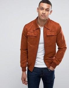 Куртка из искусственной замши Barneys - Рыжий Barneys Originals