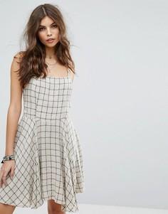 Пляжное платье в клетку Lira - Бежевый