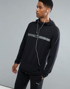 Худи из эластичного материала черного цвета Puma Running Active Tec 59253301 - Черный