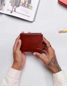 Коричневый кожаный бумажник Levis - Черный