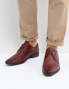 Бордовые туфли с перфорацией Silver Street - Красный