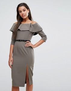 Платье-футляр с поясом Millie Mackintosh Bella - Зеленый