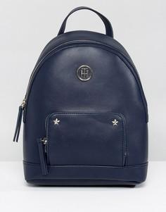 Рюкзак с полосатыми лямками и логотипом Tommy Hilfiger - Черный