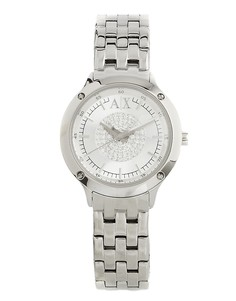 Серебристые часы со стразами в центре Armani Exchange AX5415 - Серебряный