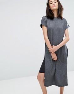 Трикотажное платье миди ADPT - Черный