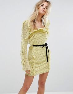 Платье мини Millie Mackintosh Milton - Желтый