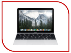Ноутбук APPLE MacBook 12 Silver MNYJ2RU/A (Intel Core i5 1.3 GHz/8192Mb/512Gb/Intel HD Graphics 615/Wi-Fi/Bluetooth/Cam/12.0/2304x1440/macOS Sierra)
