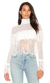 Кружевная блуза с открытыми плечами - VATANIKA