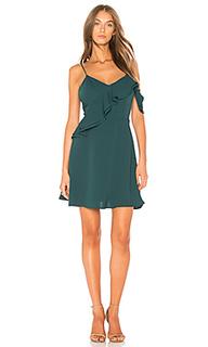 Приталенное расклешенное платье с двойными рюшами - J.O.A.