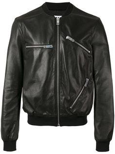 куртка-бомбер с молниями  Les Hommes