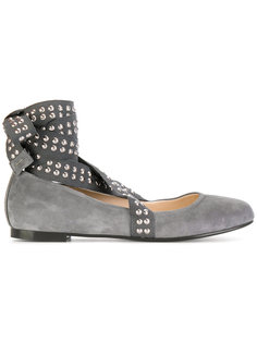 Flex studded strap ballerina shoes Anna Baiguera
