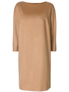платье шифт с вырезом лодочкой  Max Mara