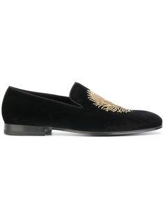 туфли с вышивкой перьев Alexander McQueen