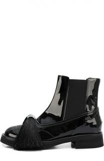Лаковые ботинки Aleksander с бантом Aleksandersiradekian