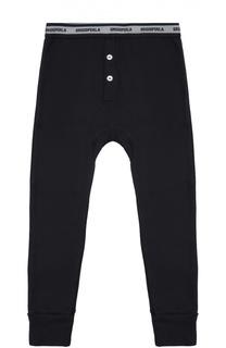 Хлопковые домашние брюки с манжетами Grigioperla