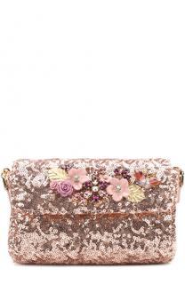 Сумка с пайетками и декором Dolce & Gabbana