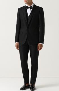 Смокинг-тройка из смеси шерсти и шелка Dolce & Gabbana