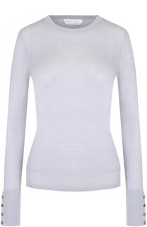 Полупрозрачный облегающий пуловер с круглым вырезом BOSS