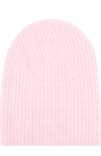 Кашемировая вязаная шапка с отделкой из страз Swarovski William Sharp