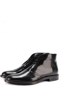 Лаковые ботинки на шнуровке Burberry