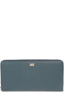 Кожаный бумажник на молнии с отделением для кредитных карт Dolce & Gabbana