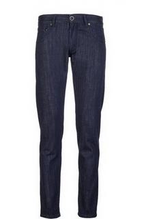 Прямые джинсы с логотипом бренда Giorgio Armani
