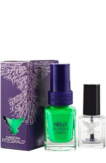 Лак для ногтей Nelly / Зеленый мармелад + Bond-подготовка Christina Fitzgerald