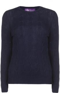 Кашемировый пуловер с вязаным узором Ralph Lauren