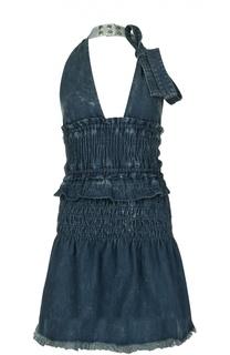Джинсовое мини-платье на одной лямке Chloé