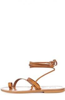 Кожаные сандалии-гладиаторы Ellada K Jacques