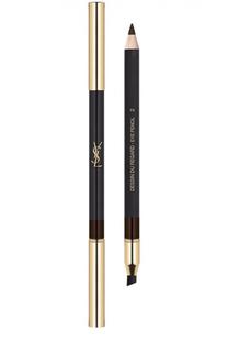 Водостойкий карандаш для глаз Dessin Du Regard, 02 Brun Ardent YSL