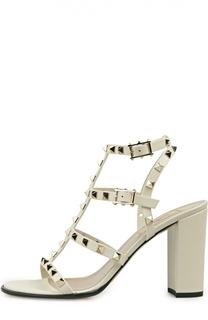 Босоножки Rockstud на устойчивом каблуке Valentino
