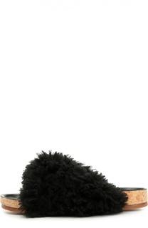 Шлепанцы Kerenn с меховой отделкой Chloé
